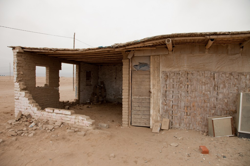 Shanty Tow In The Middle Of The Desert