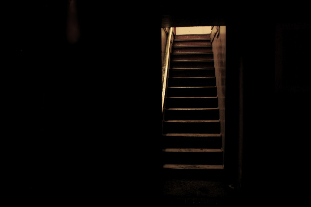 I Would Have Been Able To Escape Up These Stairs If I Wasn't Shackled To A Hospital Bed
